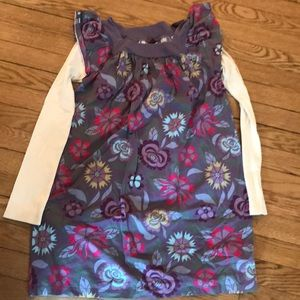 Tea girls size 12 long sleeve dress purple floral